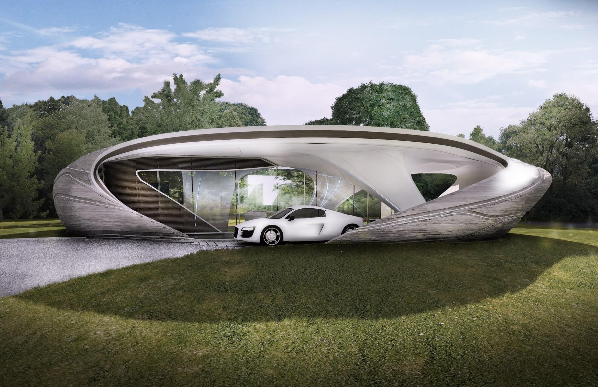 3D печать здания Curve Appeal