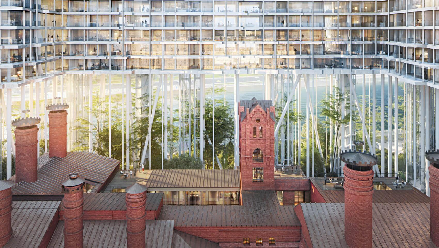 Горизонтальный небоскрёб в Москве от Herzog & de Meuron Architekten