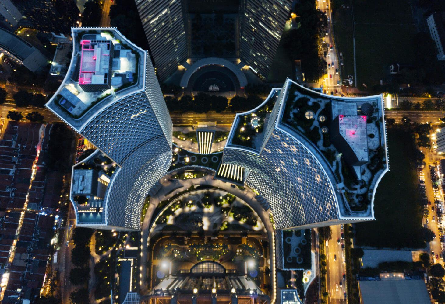Башни — близнецы DUO в Сингапуре от  Ole Scheeren