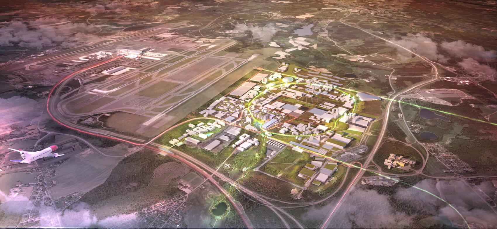 Энергоположительный аэропорт от Haptic Architects и Nordic Office of Architecture в Норвегии