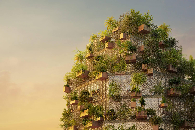 Зелёные фасады во Вьетнаме от Inrestudio