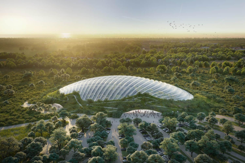 Тропическая оранжерея во Франции от Coldefy & Associates