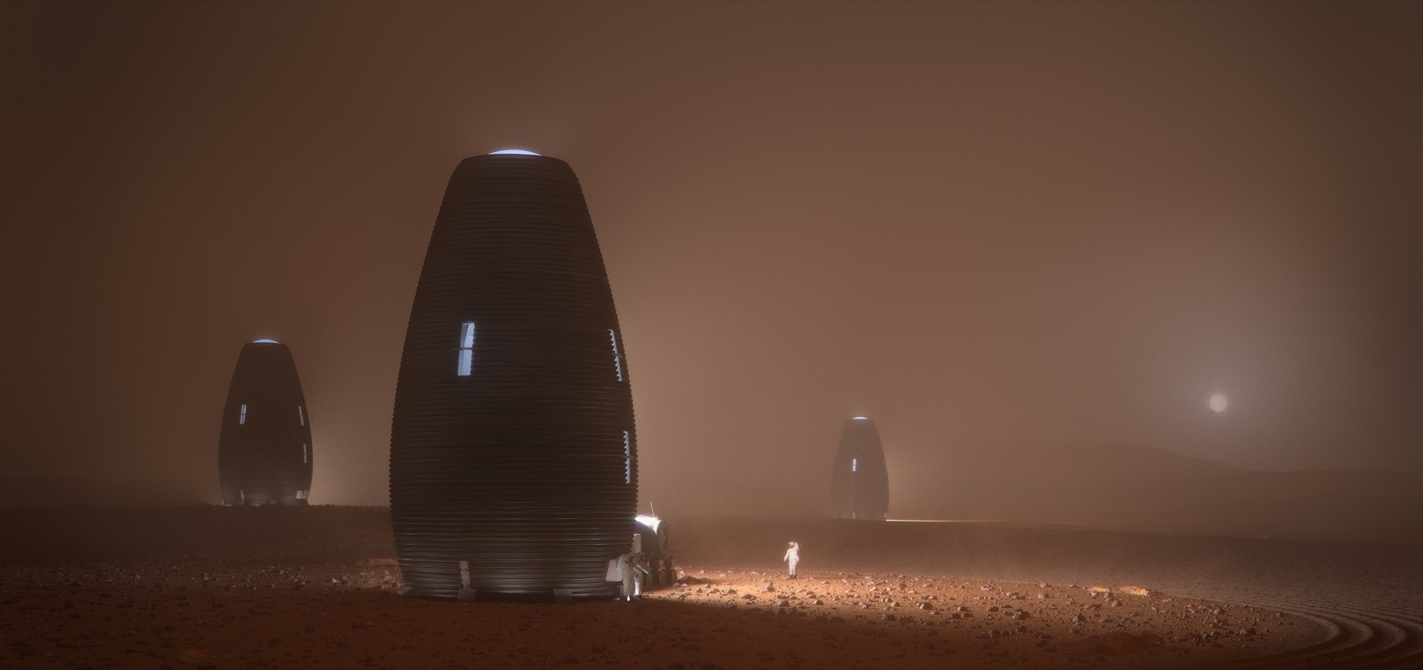3д печать зданий на Марсе в рамках 3D Printed Habitat Challenge