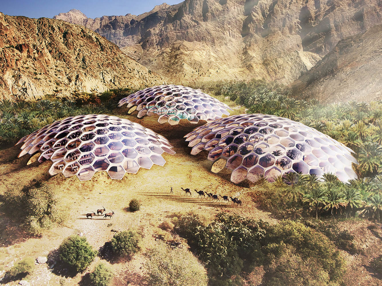 Biodomes от Baharash Architecture в ОАЭ
