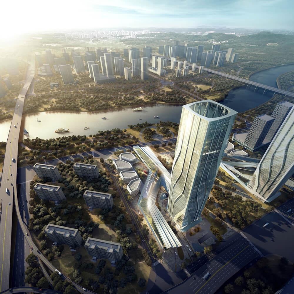 Комплекс City Gate от UM Architects в Ганьчжоу, Китай