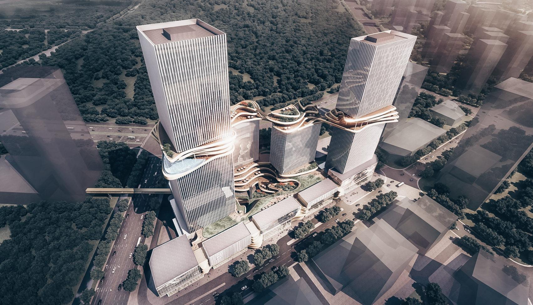 Hengqin CRCC Plaza — комплекс от Aedas в Чжухае, Китай