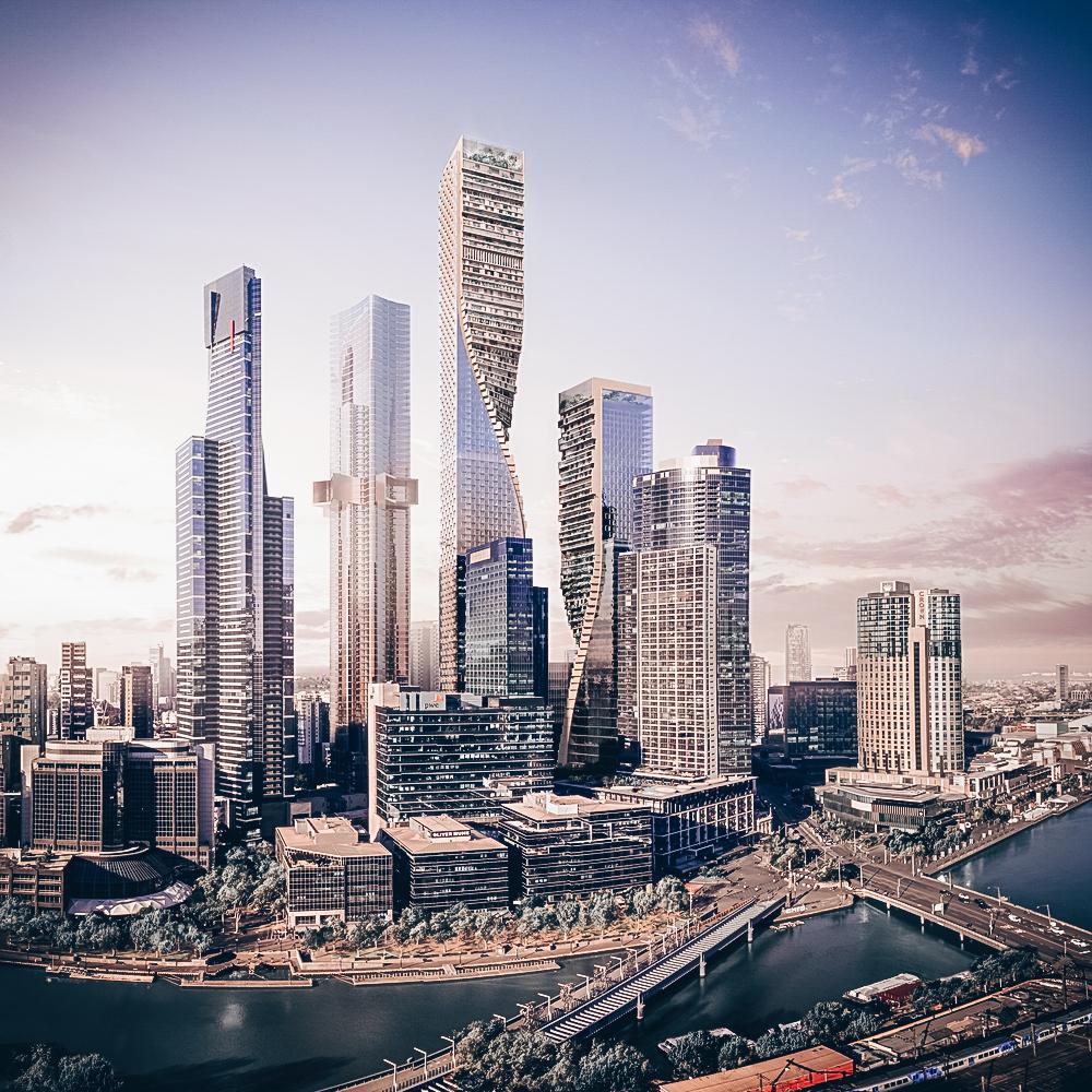 Green Spine — самый высокий небоскрёб в Австралии от UNStudio и Cox Architecture
