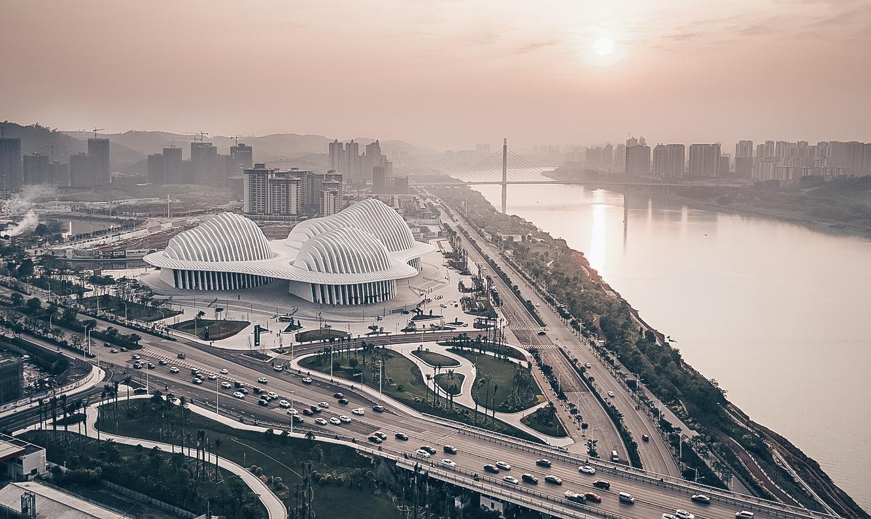 Guangxi Culture & Art Center от gmp Architects в Наньнине, Китай