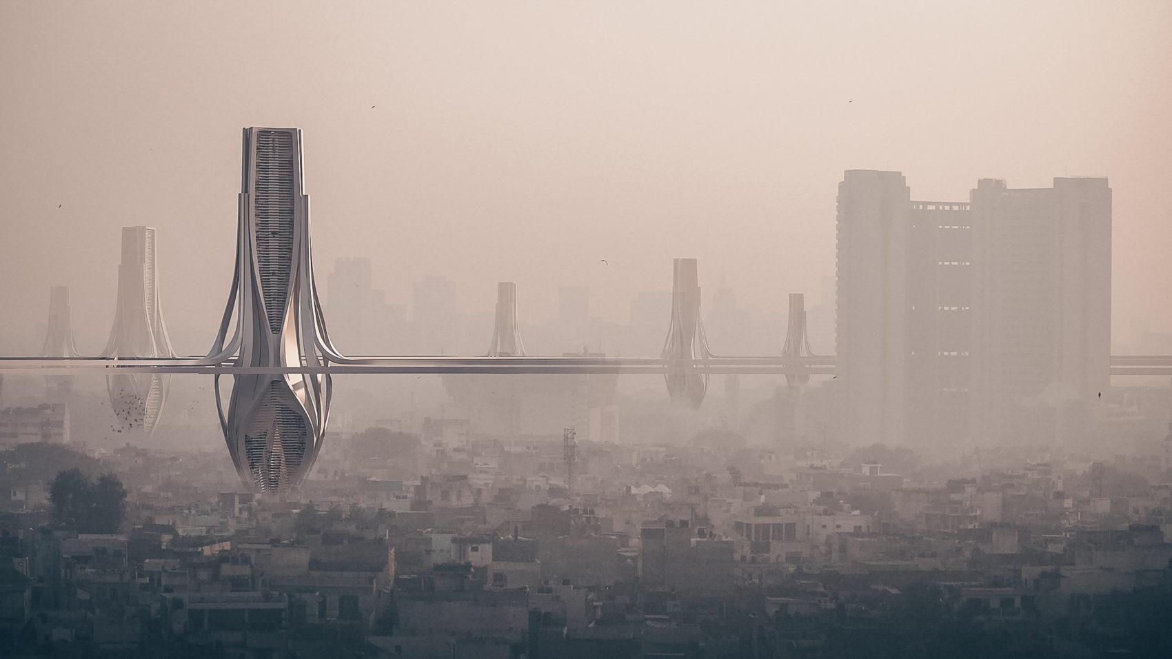 Smog – башни, очищающие воздух в Дели, от Znera