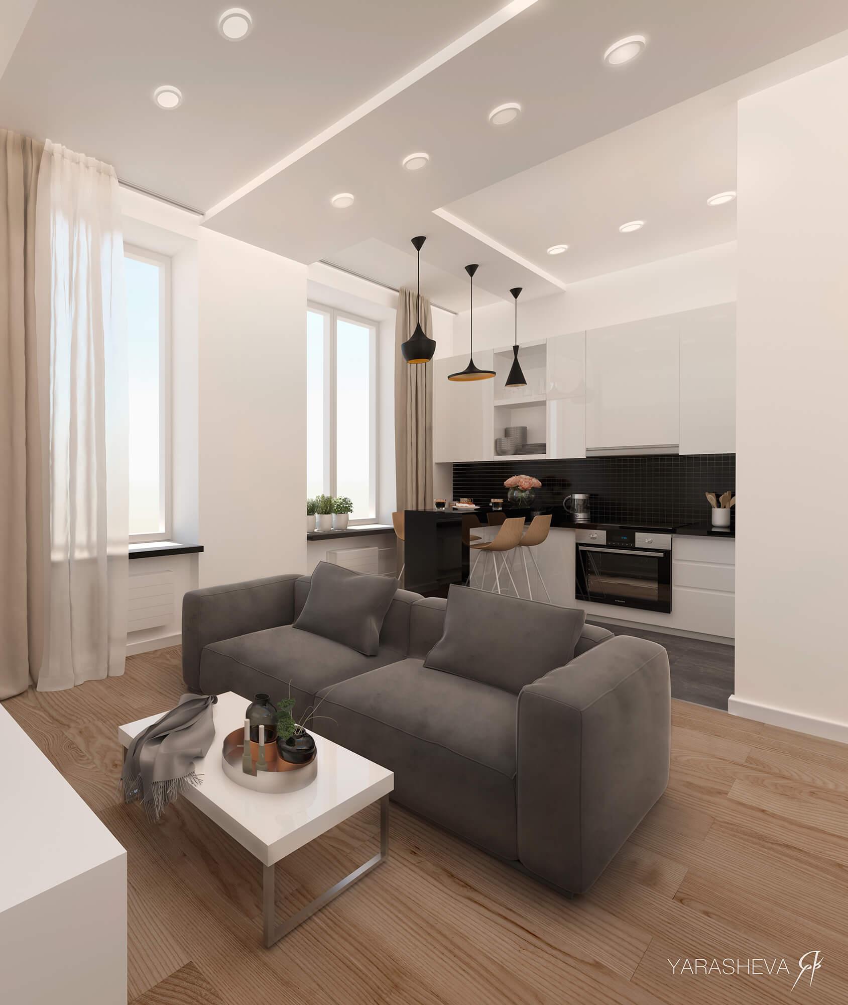 двухуровневая квартира на Панфиловской