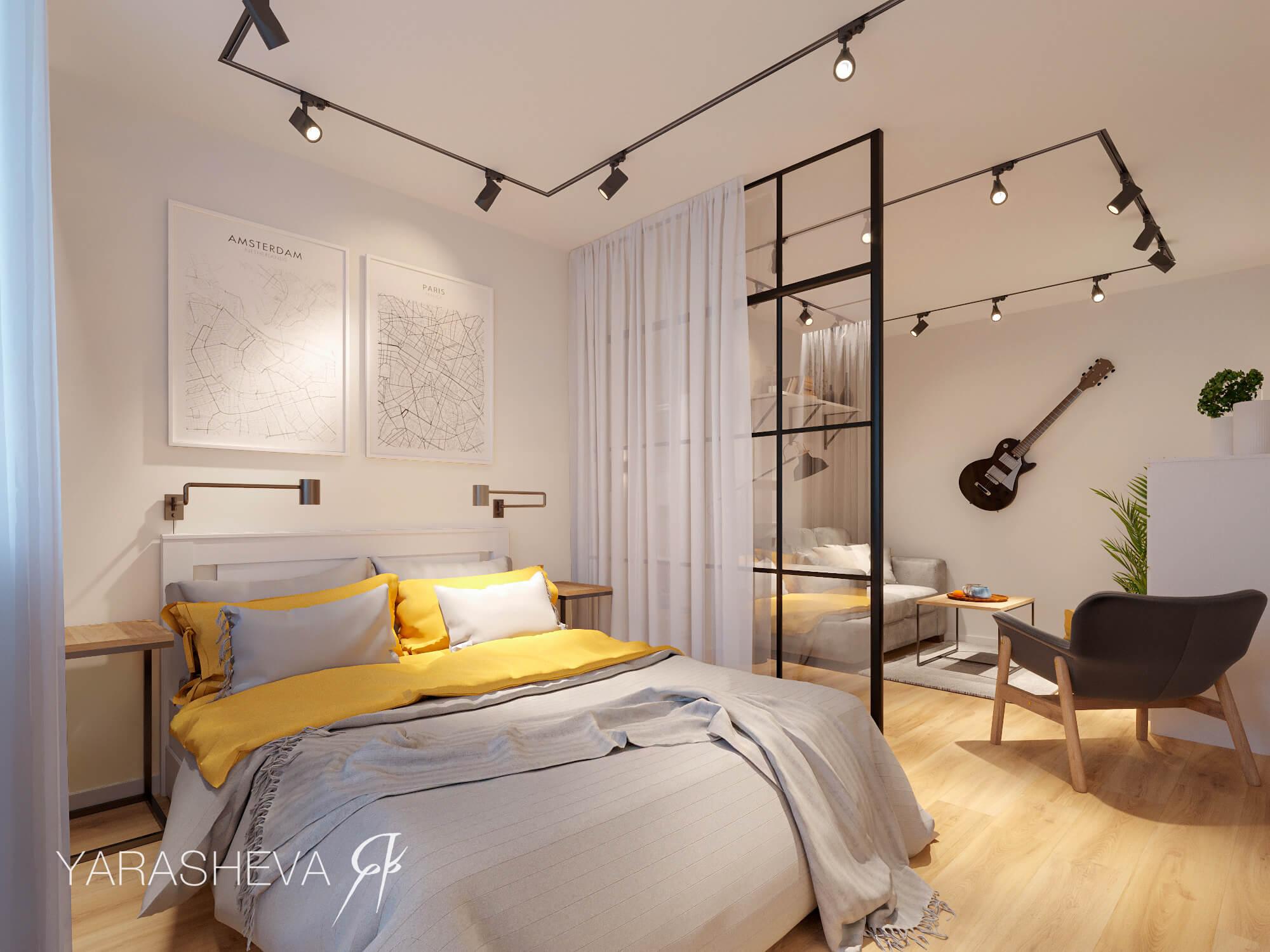 interior design of the living room-bedroom