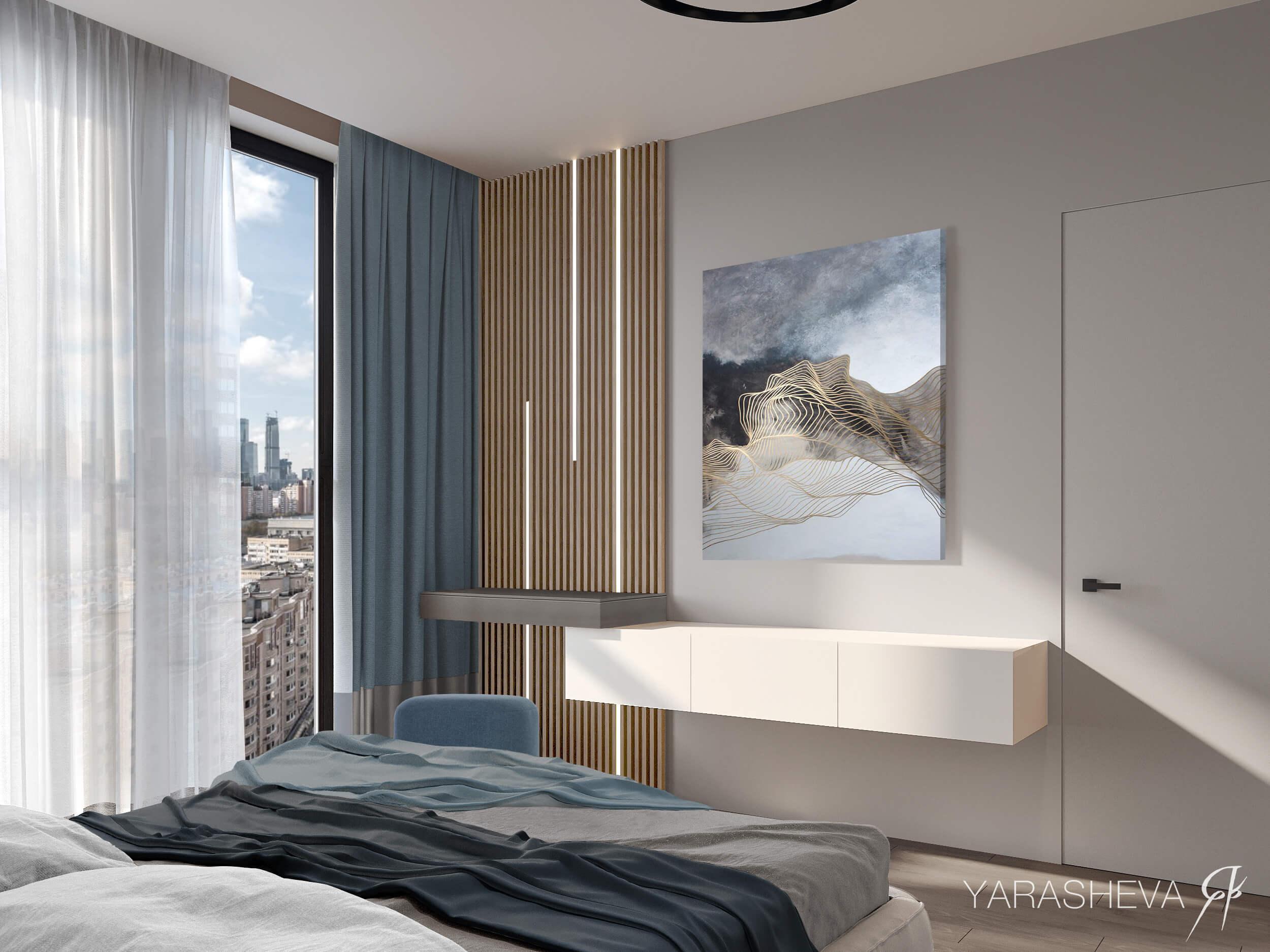 дизайн интерьера квартиры жк Пресненский вал